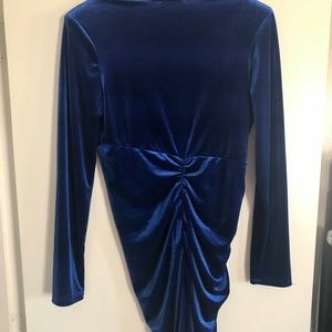 Fashion Nova Dresses - Fashion Nova blue velvet dress